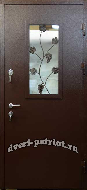 металлические двери со стеклопакетом химки