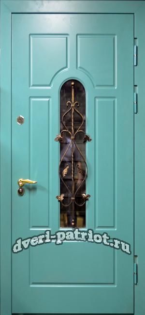 дверь входная с остеклением для дачи
