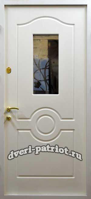недорогие входные двери со стеклом и ковкой