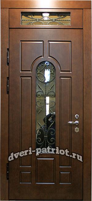 стальные двери с решеткой и стеклопакетом