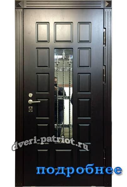 стандартные стальные двери со стеклопакетом